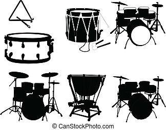 illustration of musical instrument - vector