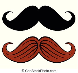 mustache design on white background