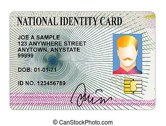 national identity card isolated - Illustration of national...