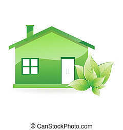 natural home - illustration of natural home