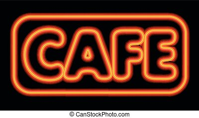 neon glowing cafe