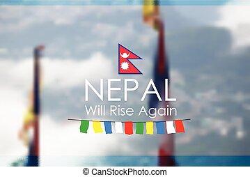 Nepal earthquake 2015 help - illustration of Nepal...