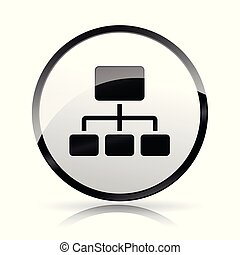 network icon on white background