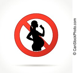 no alcohol for pregnant women icon