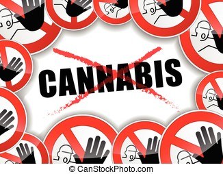 no cannabis concept background