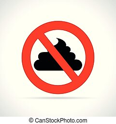 no poop sign on white background