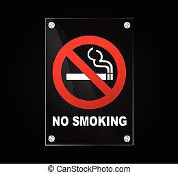 no smoking sign - Illustration of no smoking sign on black ...