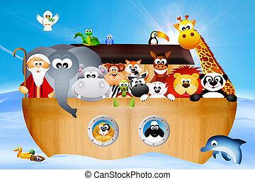 Noah's ark - illustration of Noah's ark