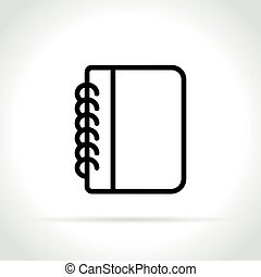notebook icon on white background