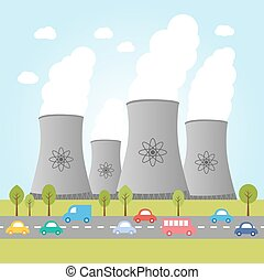 Illustration of nuclear power plant
