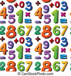 numbers - illustration of numbers on a blue background