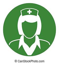 nurse green circle icon