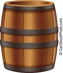 Oak Barrel - illustration of Oak Barrel