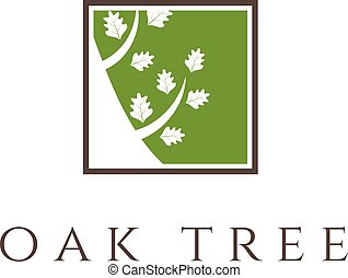 Illustration of oak tree icon. vector