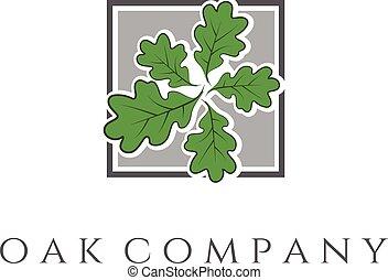Illustration of oak tree icon. vector