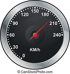 odometer - illustration of odometer of car dashboard