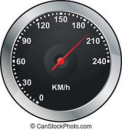 illustration of odometer of car dashboard