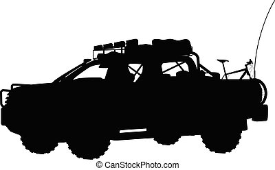 off road vehicle - illustration of off road vehicle isolated...