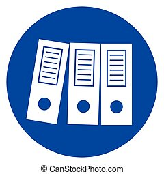 office binders blue icon