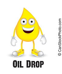 oil drop - Illustration of oil drop with shoes and gloves,...