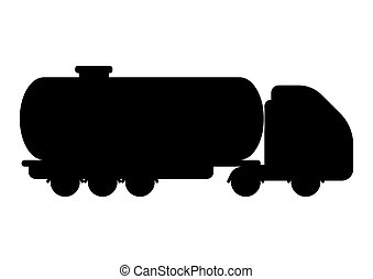 Illustration of oil tank truck.
