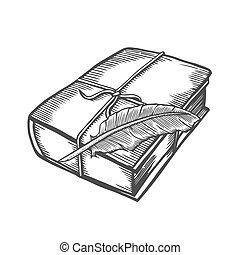 illustration of old book.