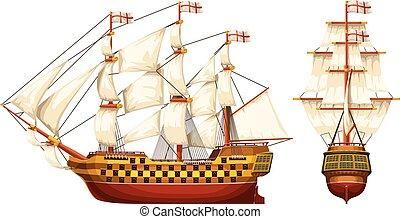 old war ship set