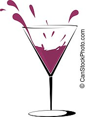 drinks - Illustration of one goblets of drinks