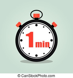one minute stopwatch isolated