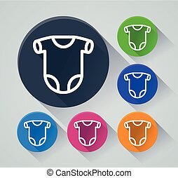 onesie circle icons with shadow