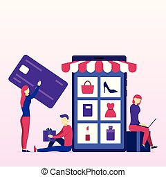 Online Shopping Business Concept