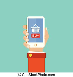 online shopping using smart phone