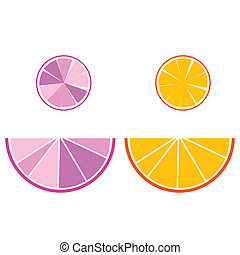 illustration of orange