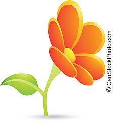 Orange Flower Icon
