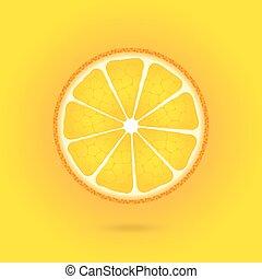 Orange icon on a orange background