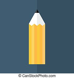 Orange pencil icon over blue