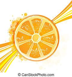orange with wave