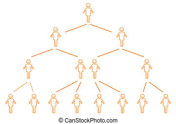 organization chart - illustration of organization chart on ...