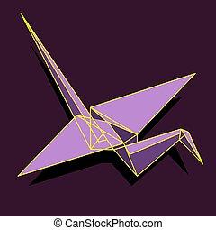 Crane polygon shapes illustration  Illustration of a crane