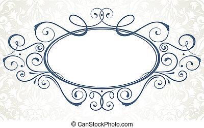 titling frame - illustration of ornamental original design ...