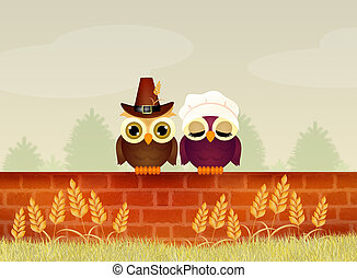 owls for Thanksgiving day