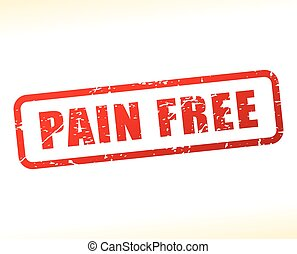 pain free text buffered - Illustration of pain free text...