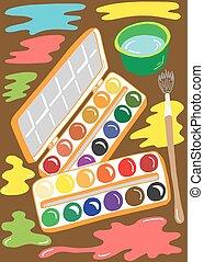 Illustration of paint brush tools
