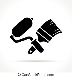 paint tools icon on white background
