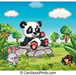 Panda in the forest