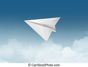 illustration of paper airplane