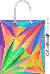 Illustration of paper bag.