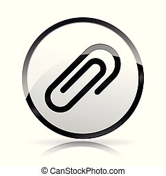 paper clip icon on white background