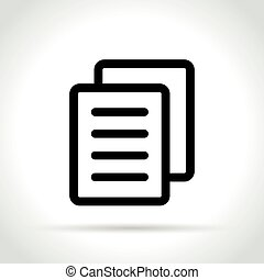 paper icon on white background