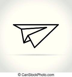paper plane icon on white background